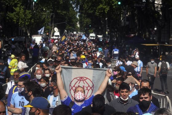 Maradona Farewell Turns Chaotic, Upending Covid Restrictions