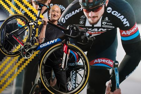 Tony Lo, chief executive officer of Giant Bicycle Inc., poses for a photograph at the company's headquarters in Taichung, Taiwan.