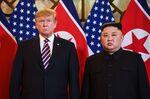 Donald Trump, left, and Kim Jong Un in Hanoi on Feb. 27.