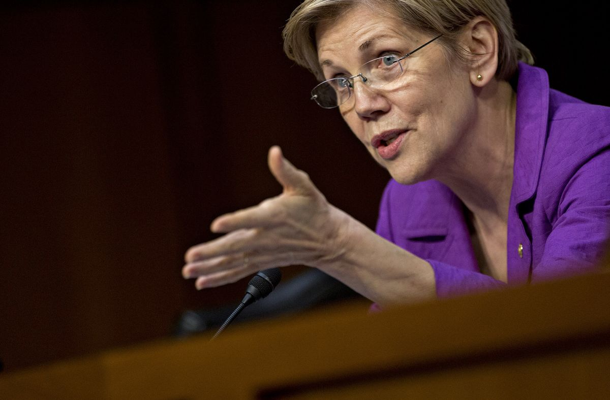 Elizabeth Warren Trains Her Sights on a New Target