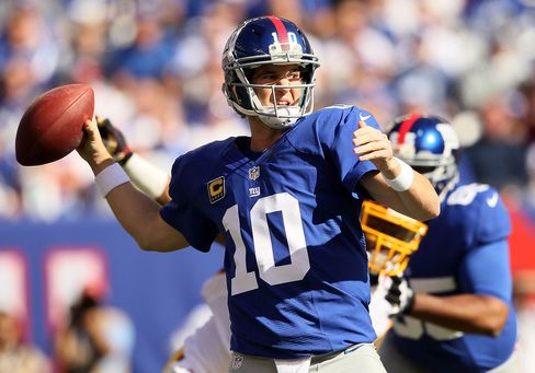 New York Giants Defeat Washington Redskins 27-23 in NFL Week 7