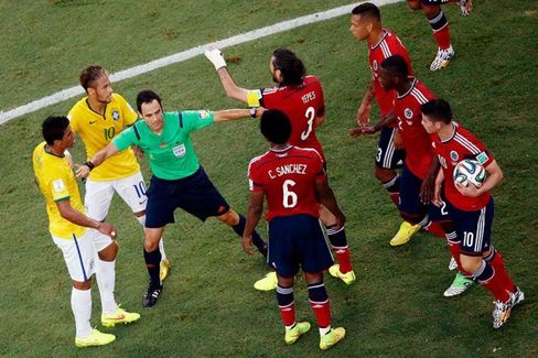 In a World Cup With Aggressive Play, Yellow and Red Cards Vanish