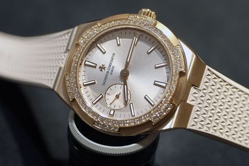 The same profile as the men's Overseas watches, but with a special dial and some diamonds.