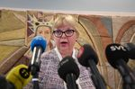 Prosecutor Eva-Marie Persson comments on the Uppsala District Court's decision not to detain Wikileaks founder Julian Assange during a press briefing in Uppsala, Sweden, on June 3.
