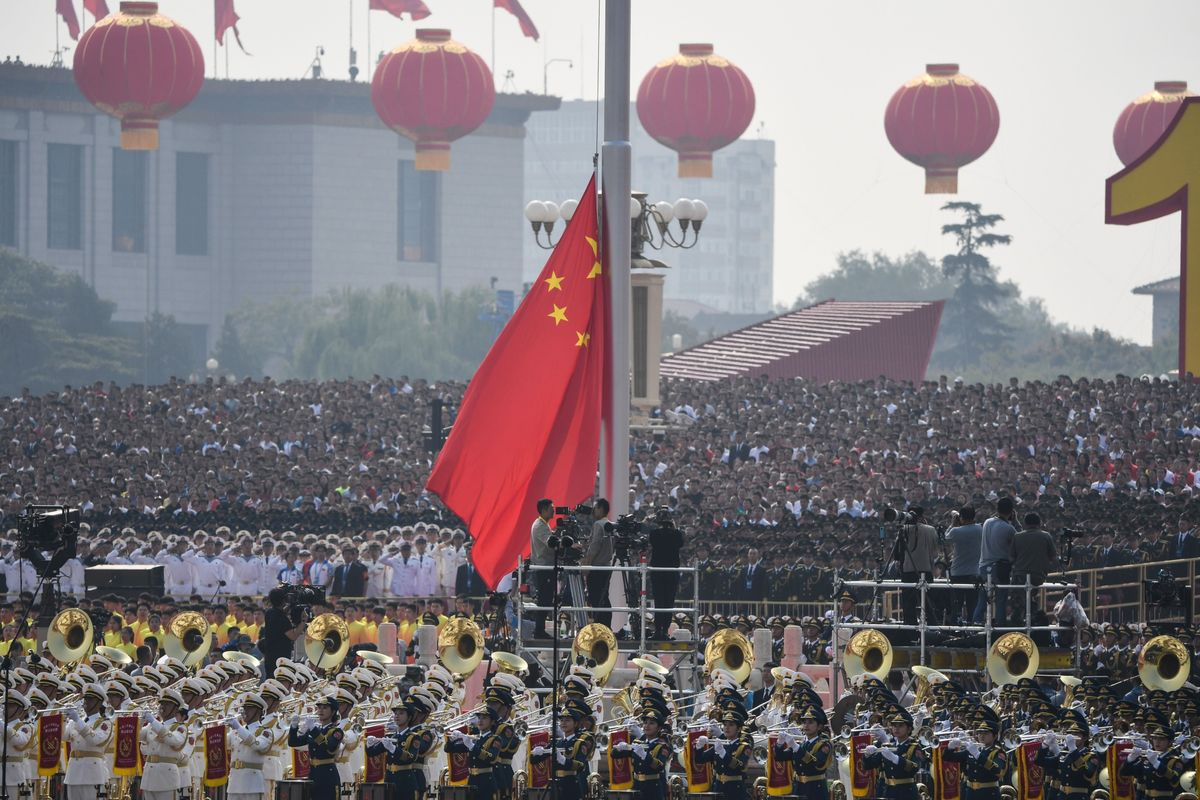 China's Pomp Out of Step With Hong Kong's Fury