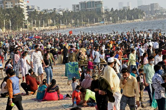 India Hits Record Infections Spurring Mumbai Curbs Through April