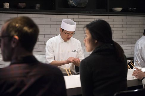 For a taste of the restaurant's most famous pieces of sushi, you'll have to make a reservation at the sushi bar.