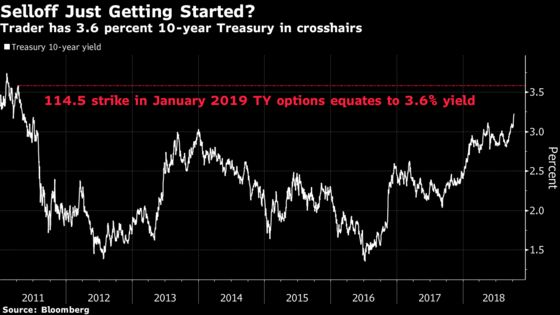Bond Trader's $2.5 Million Wager Targets 10-Year Yield at 3.6%