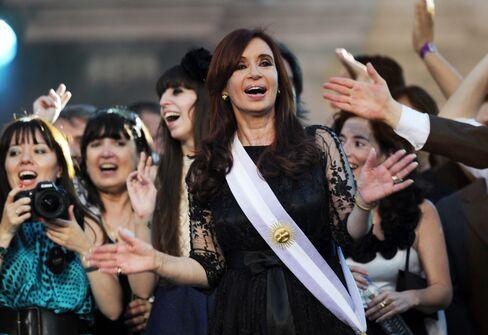 President Cristina Fernandez de Kirchner was re-elected in 2011.