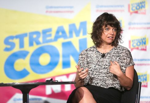 Kathleen Grace speaks at Stream Con NYC on Oct. 30 in New York.