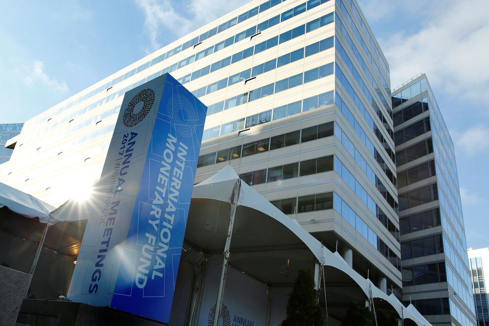 International Monetary Fund Headquarters During The Imf World Bank Annual Meetings In Washington On Oct