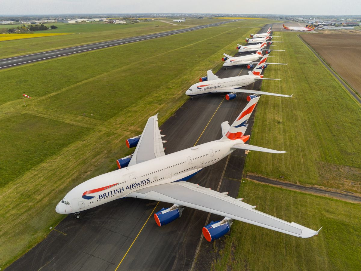 Coronavirus Travel: What Happens to Planes Grounded by Covid-19 - Bloomberg