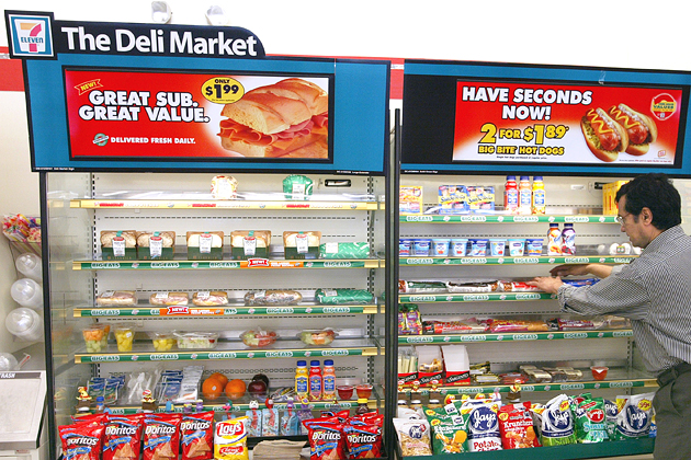 In Convenience Stores More Food Fewer Cigarettes Bloomberg