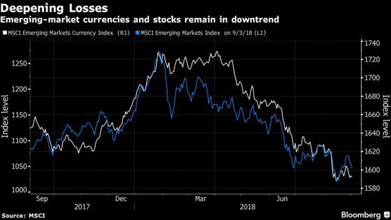 U.S. Stocks Fall, Dollar Gains as EM Assets Wobble: Markets Wrap