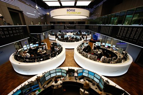 Traders Work in the Frankfurt Stock Exchange
