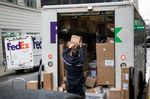 Deliveries As Cyber Monday Deals Hit