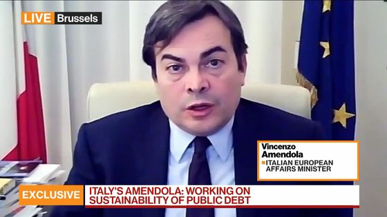 Italy Won't Seek to Cancel Debt Purchased by ECB, Minister Says