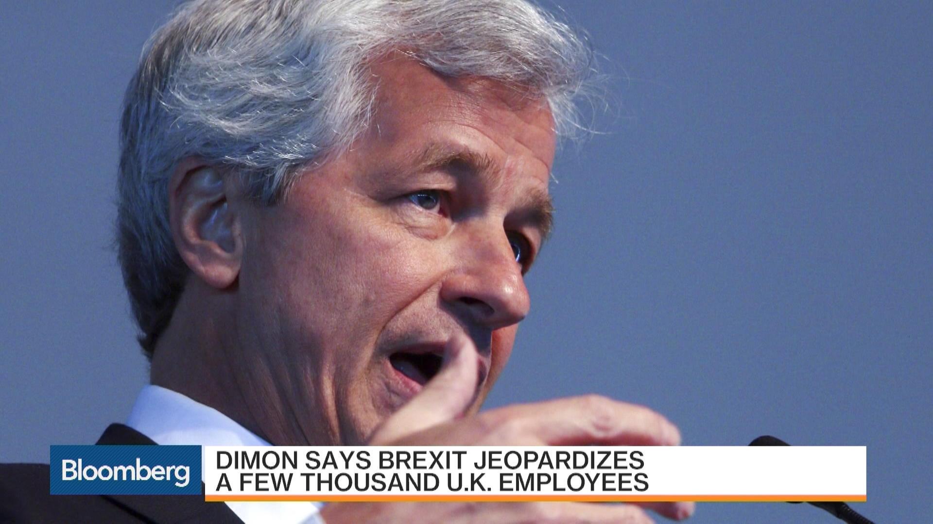 Jpmorgan Ceo Dimon Warns Of Brexit Job Losses Bloomberg