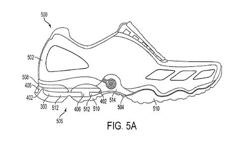 In December, Reebok won a patent for a shoe with an inflatable sole.
