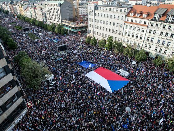 Biggest Rally Since Communism Tests Czech Billionaire Leader