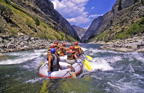 Rafting the Middle Fork of the Salmon River.