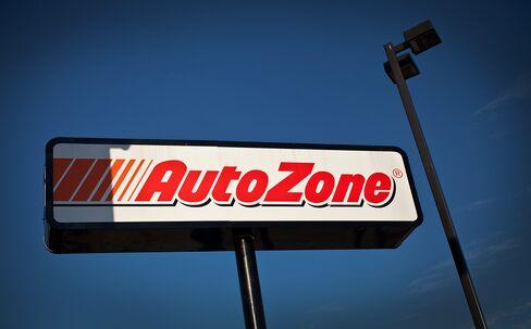 AutoZone Inc. signage is displayed outside of a store in Elizabeth, New Jersey. Photographer: Emile Wamsteker/Bloomberg