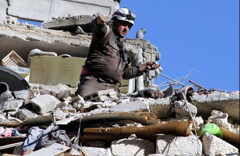 Russian army hits residential areas in Aleppo