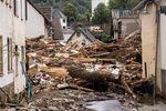 Debris in a street after flooding in Schuld near Bad Neuenahr, western Germany, on July 15.