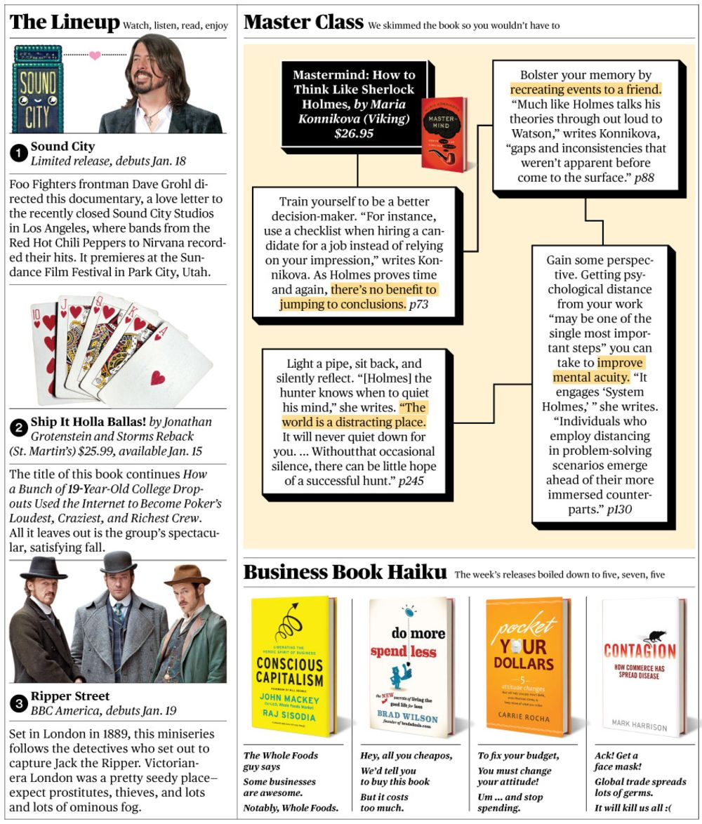 The Roundup: How to Think Like Sherlock Holmes and More - Bloomberg
