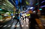 Commuters In Singapore's Central Business District Ahead Of Unemployment Figures