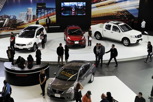 Cars On Display At The Autoexpo Fair In Algiers