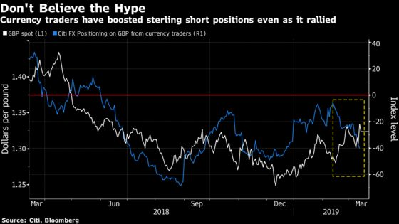 Bets Against the Pound Are at the Highest Level of the Year