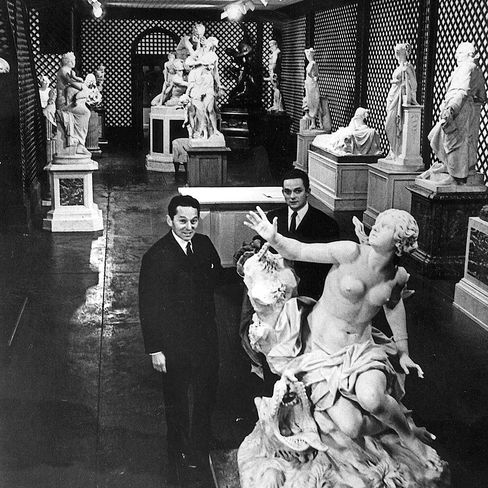 Dealers Daniel (left) and Alec Wildenstein at the New York Gallery in 1965.