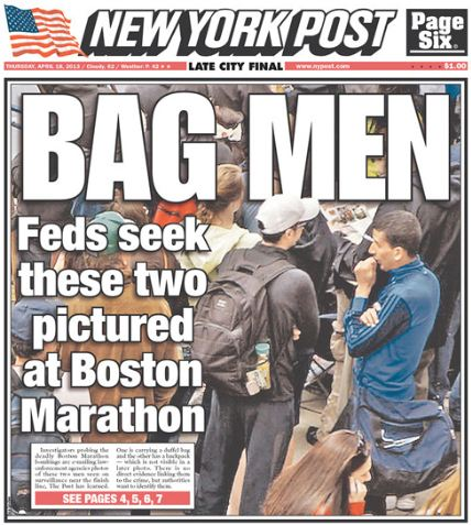 N.Y. Post Sued by Two Claiming Libel in Boston Bomb Coverage