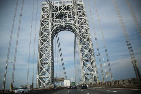 The George Washington Bridge in Fort Lee, N.J.