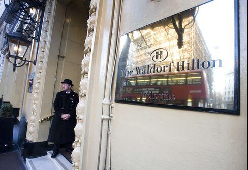 The Waldorf Hilton Hotel in London