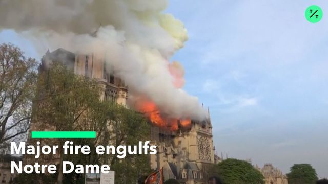 fe749328295 Notre Dame Cathedral Fire  YouTube Mistakenly Flags as 9 11 - Bloomberg