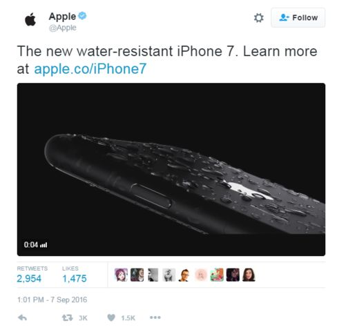 Apple tweeted about the iPhone at the start of its launch event, before the big reveal.