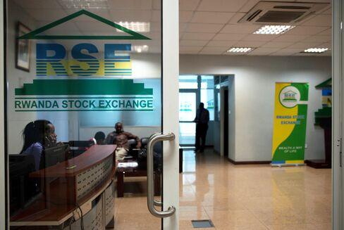 The Kigali Stock Exchange in Kigali, Rwanda