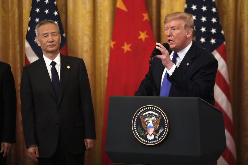 President Trump Holds Signing Ceremony Of Trade Agreement Between U.S. And China Phase One