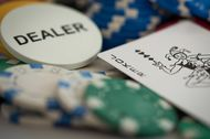 Poker chips are arranged for a photograph in Oradell, New Jersey, U.S., on Sunday, June 28, 2015.