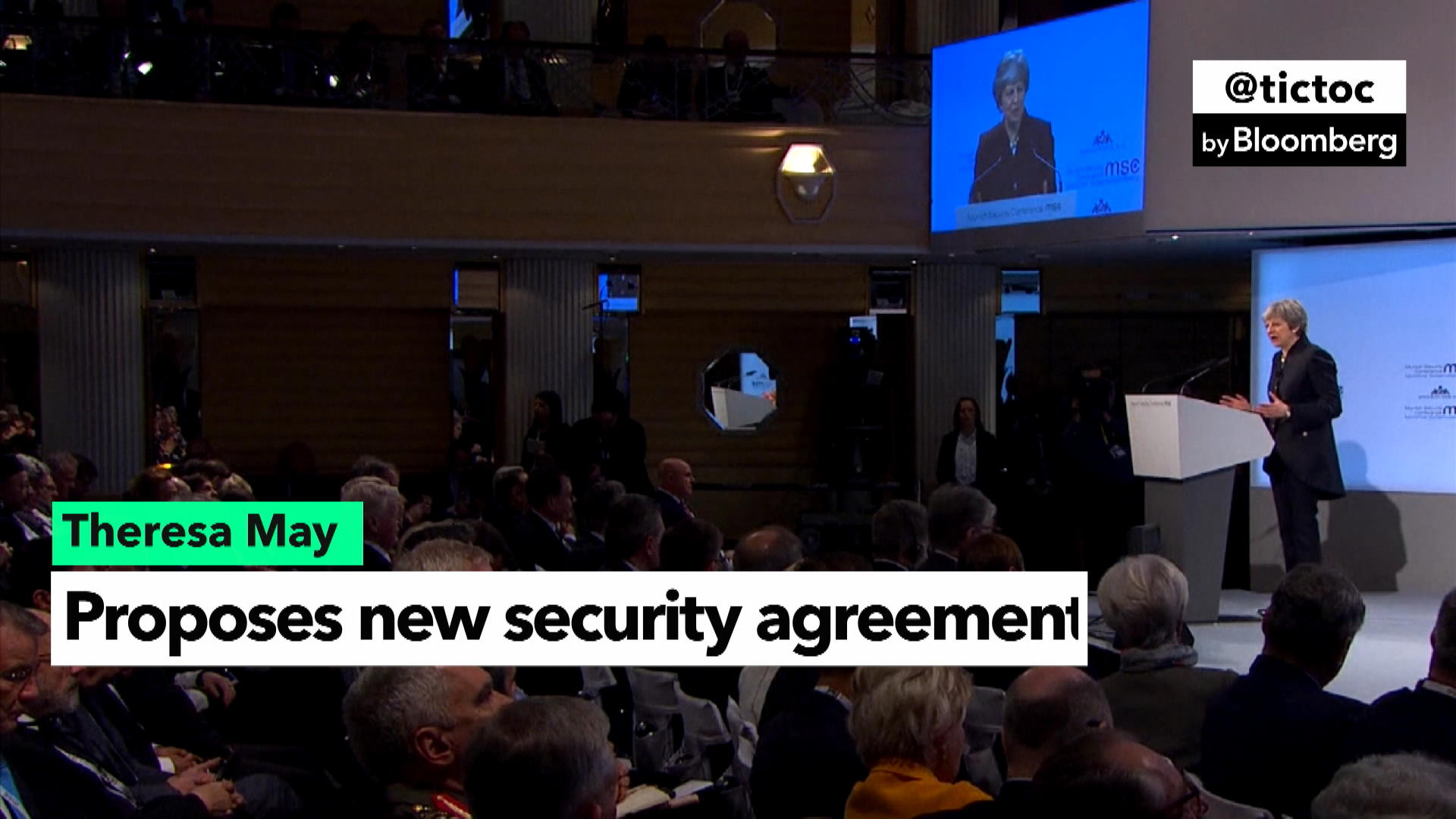 Theresa May proposes security agreement between UK and EU