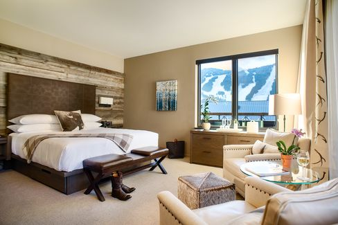 A suite with alpine views at Hotel Jackson.