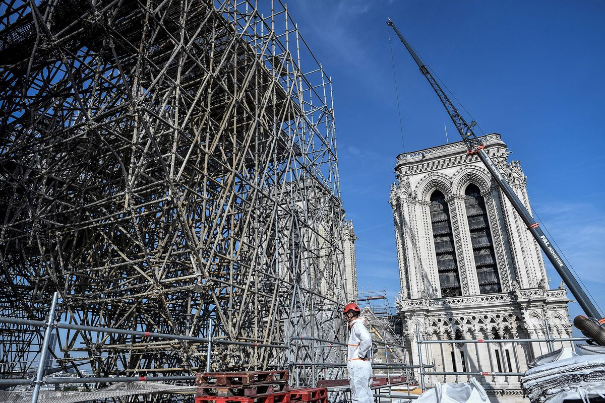Notre Dame Is Still At Risk From Tons of Fused Scaffolding