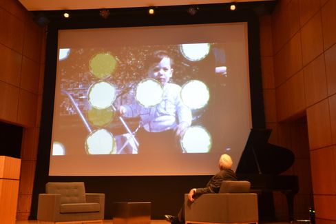 A scene from a family movie shows Bill Ackman as a boy tethered to his carriage. Photographer: Amanda Gordon/Bloomberg