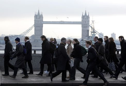 U.K. Financial Firms May Cut Extra 45,000 Jobs, CBI Survey