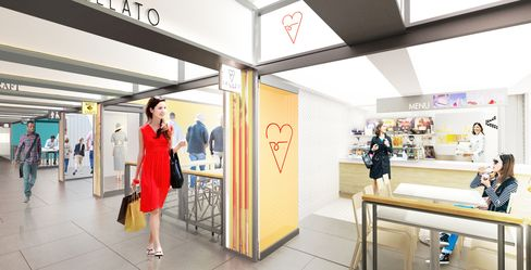 A rendering of TurnStyle, coming soon to the subway concourse at Columbus Circle in New York.