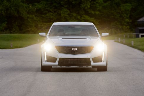 The CTS-V comes with high-intensity headlamps and angular styling based on the racetrack.