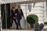 メラニア夫人とトランプ大統領
