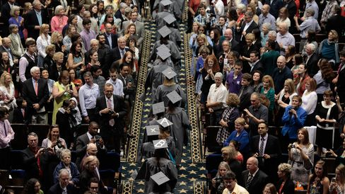 A commencement ceremony in Washington, DC .